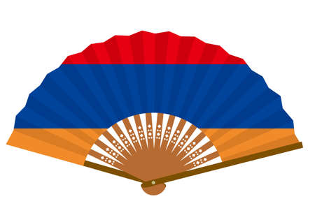 Armenian flag-patterned fan Ilustração