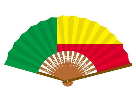 Benin's flag-patterned fan