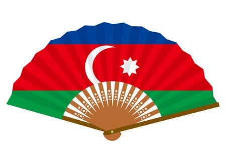 Azerbaijani flag-patterned fan
