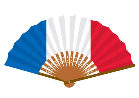 French flag-patterned fan