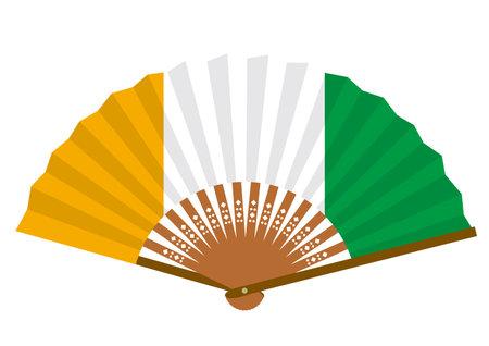 Ivory Coast flag-patterned fan Ilustração