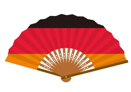 German flag-patterned fan