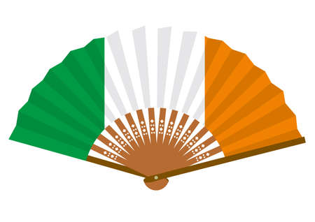 Irish flag-patterned fan