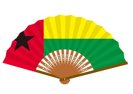 Guinea-Bissau flag-patterned fan