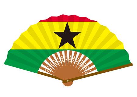 Ghanaian flag-patterned fan