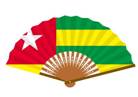 Togo's flag-patterned fan Ilustração