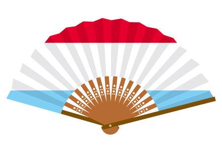 Luxembourg flag-patterned fan