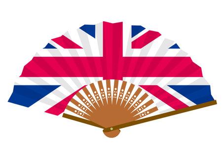 a fan with a British flag Ilustração