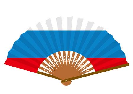 Russian flag-patterned fan