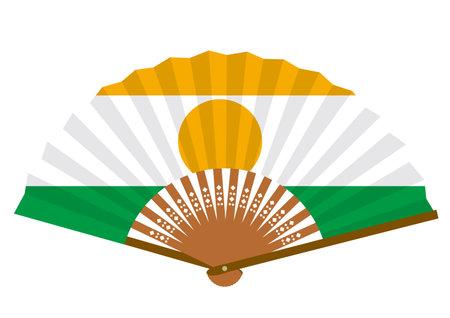 Niger flag-patterned fan