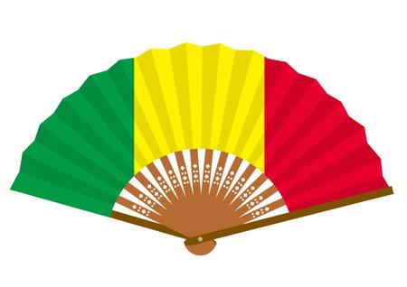 a fan with a Malian flag
