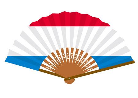 Dutch flag-patterned fan
