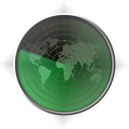 guidebook: Military search radar with the earth image