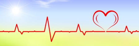 pulse trace: Pulse trace Heart shape Stock Photo