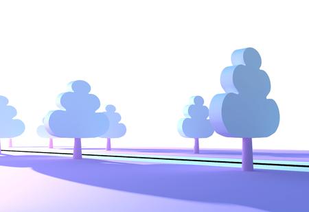 roadside: Trees in the park by the roadside