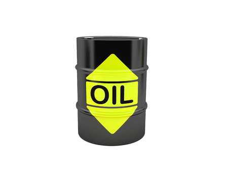 toxic substances: A barrel of oil isolated on a white background Stock Photo
