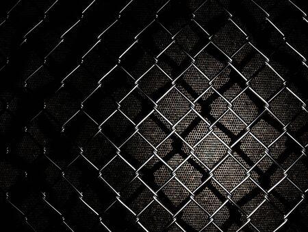 netting: Verrekening op een donkere achtergrond Stockfoto