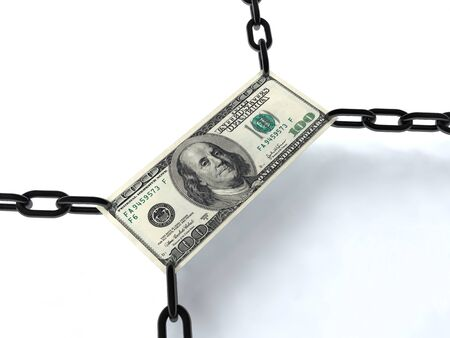 One hundred dollars wrapped chain photo