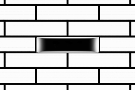 hole in wall: Brick wall with a hole in the middle