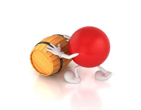 pushes: 3d-men pushes a barrel
