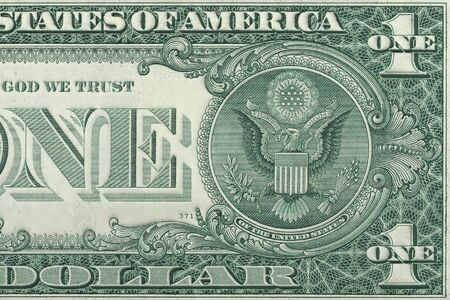 reverse: One dollar reverse closeup