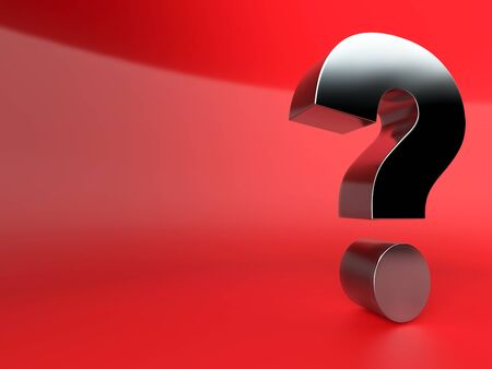Question mark 3d Stock Photo
