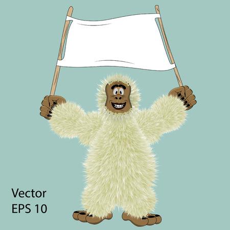 Bonhomme de neige avec une illustration vectorielle signe Vecteurs