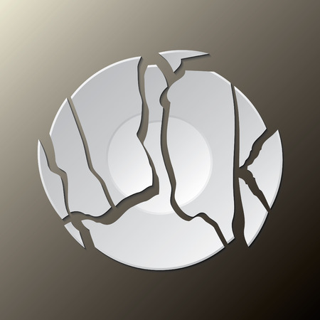 crack: Luck broken plate Illustration