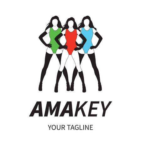 Logo met drie meisjes