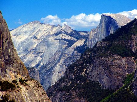 magnificence: Yosemite mountainscape with Half-Dome.