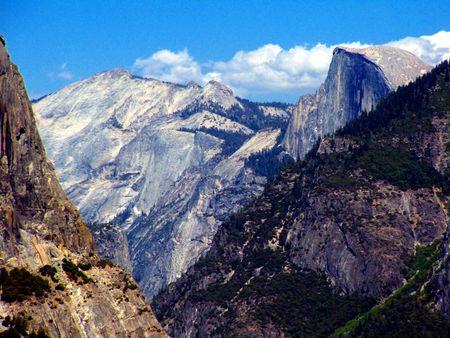 mountainscape: Yosemite mountainscape with Half-Dome.