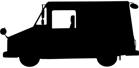 bundle of letters: This is a postal vehicle, also known as a Long Life Vehicle (LLV).
