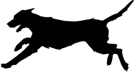 走っている犬  イラスト・ベクター素材
