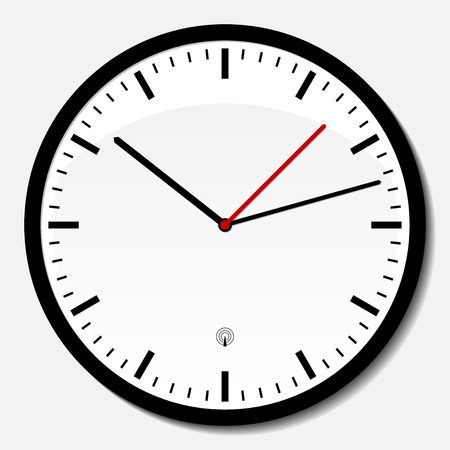 office clock: Reloj de pared de la oficina