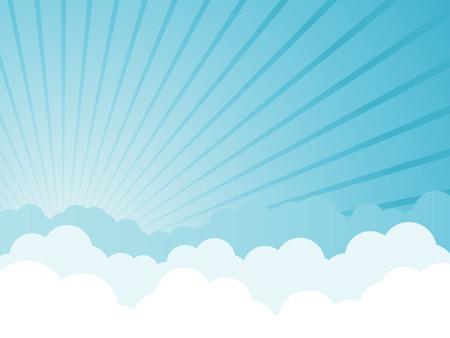 Cloudy cartoon background Vector