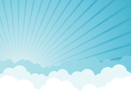 blue ray: Cloudy cartoon background
