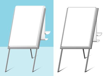 flipchart: Flip-chart - vector
