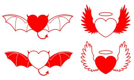 Goodevil heart - vector