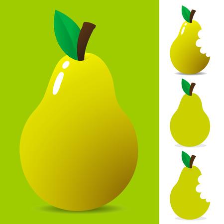 Yellow pear - vector Stock Vector - 3893715
