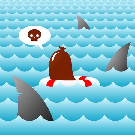 shark fins and sausage - episode 3 Vector