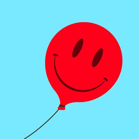 Cute smiley face balloon  Vector