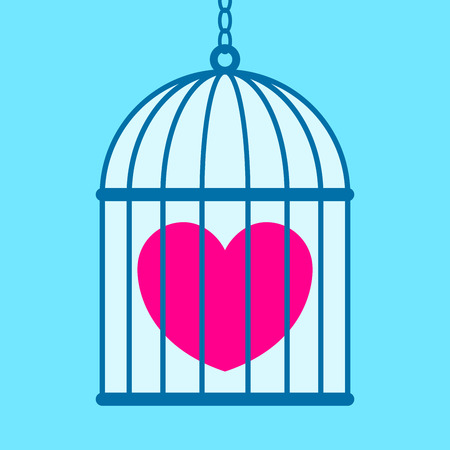 flue: Heart in cage  Illustration