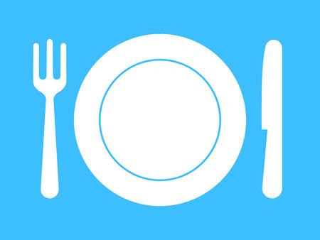 Plate, fork, knife - dinnerware Stock Vector - 4008106