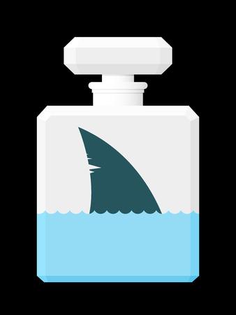 shark fin: Shark fin in perfume flask