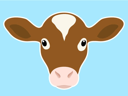 Calf head Vector