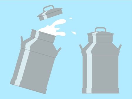 Milk cans Ilustrace