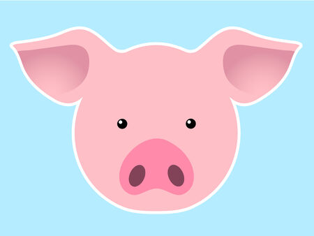 Pig head Stock Vector - 4076811