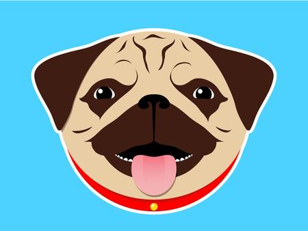 pug nose: Pug head