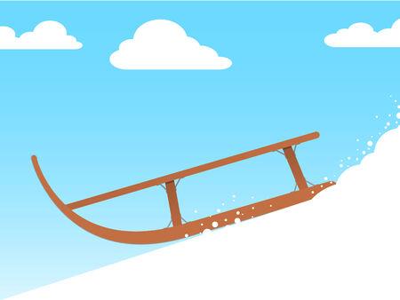 sledging: Sled - vector