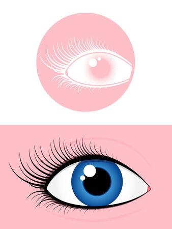 cilia: Female eye pictogram Illustration
